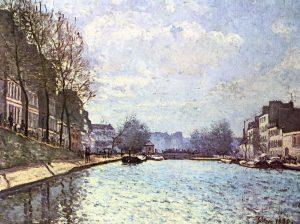 آلفرد سیسلی، نمای کانال سینت مارتین،۱۸۷۰، موزه اورسه پاریس