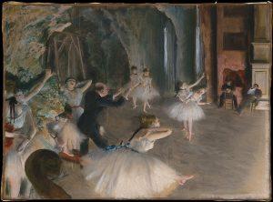 ادگار دگا، رقصندگان روی استیج، ۱۸۷۸، موزه متروپولیتن نیویورک