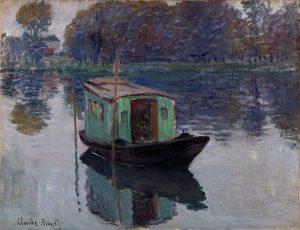 کلود مونه، قایق استودیو هنرمند 1915